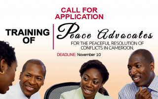 Call for applications Peace advocates